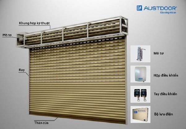 Báo Giá Lắp Đặt Cửa Cuốn Tự Động AustDoor Nhập Khẩu Giá Rẻ
